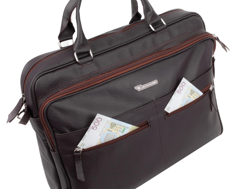 Torba na laptopa podróżna skórzana KOCHMANSKI 2108
